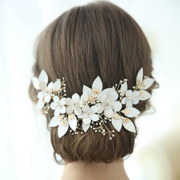 Ladies Beautiful/Elegant Alloy/Leatherette With Flower/Rhinestone Hairpins