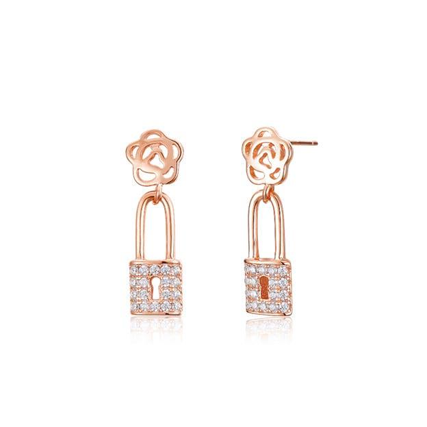Women's Romantic 925 Sterling Silver Earrings With Cubic Zirconia