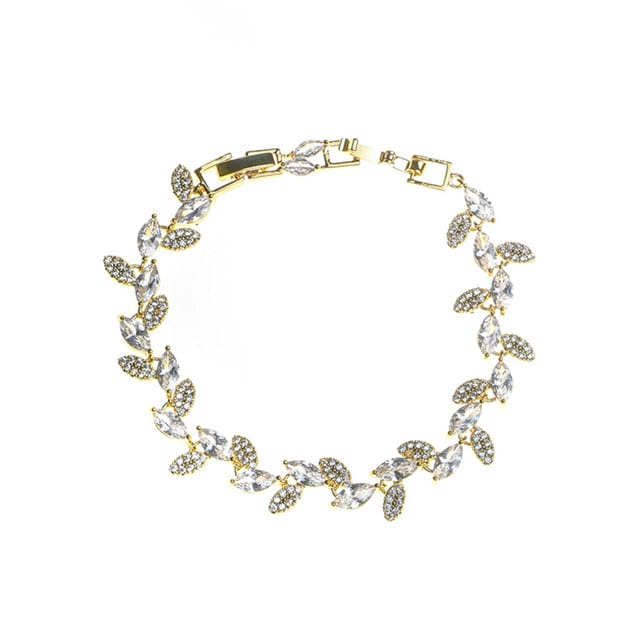 Women's Nice Silver Bracelets With Rhinestone For Bride