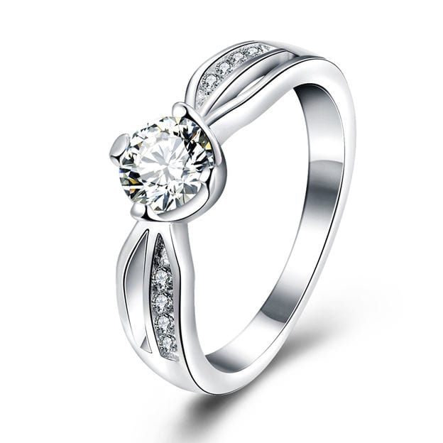 Women's Attractive Silver Rings With Cubic Zirconia