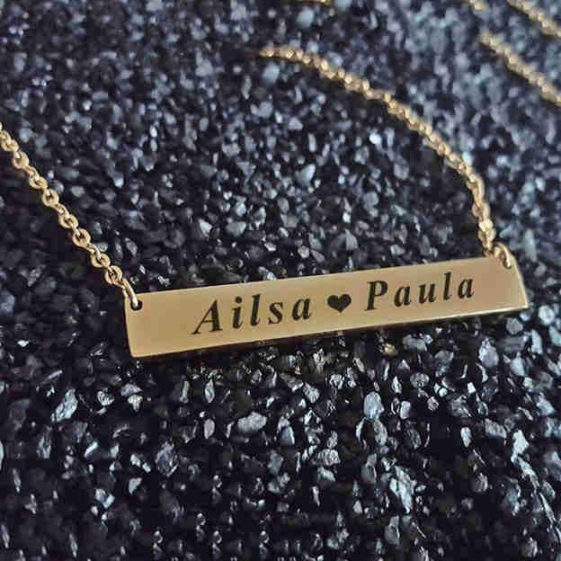 Personalized Customized Silver Name Necklace