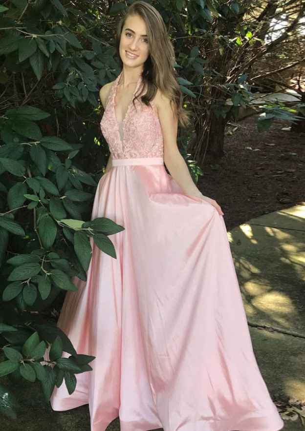 A-Line/Princess Scalloped Neck Sleeveless Long/Floor-Length Charmeuse Prom Dress With Lace