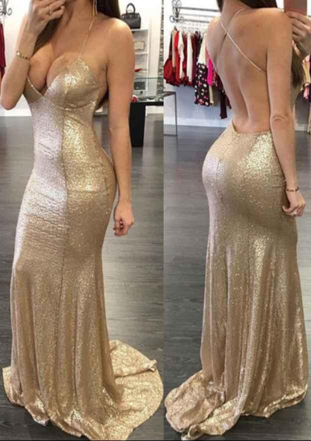 Trumpet/Mermaid Sweetheart Sleeveless Sweep Train Sequined Prom Dress