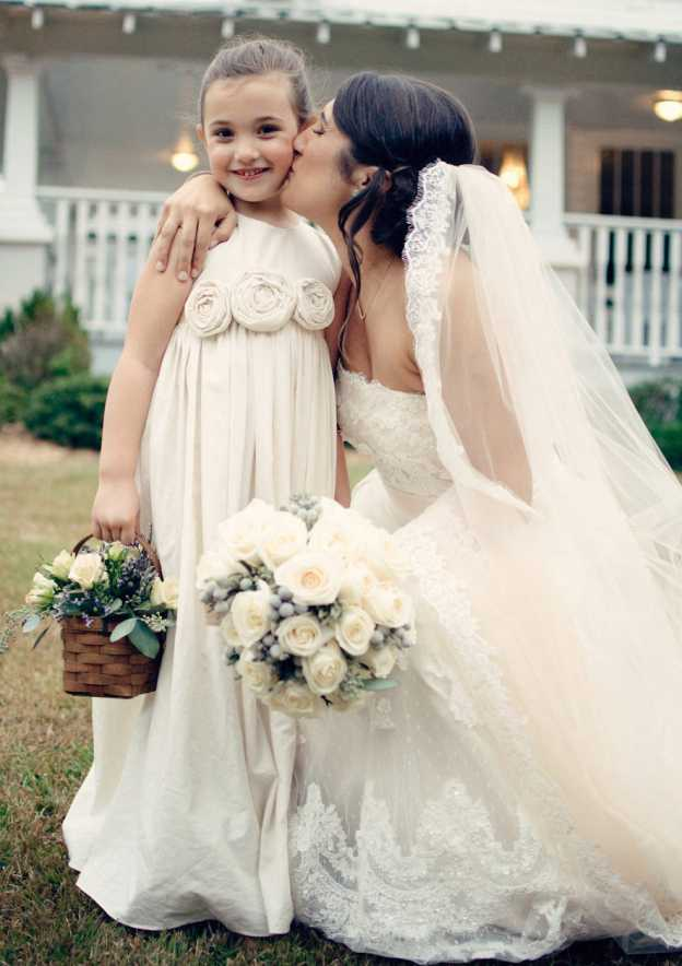 A-Line/Princess Bateau Sleeveless Long/Floor-Length Satin Flower Girl Dress With Handmade Flowers