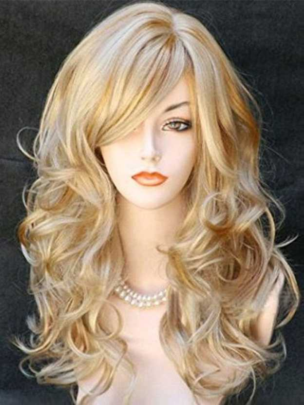 Medium Curly Capless High Quality Heat Resistant Synthetic Wigs