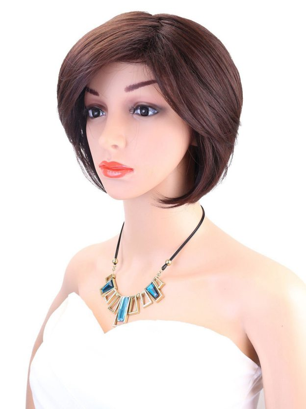 Short Straight Capless High Quality Heat Resistant Synthetic Wigs