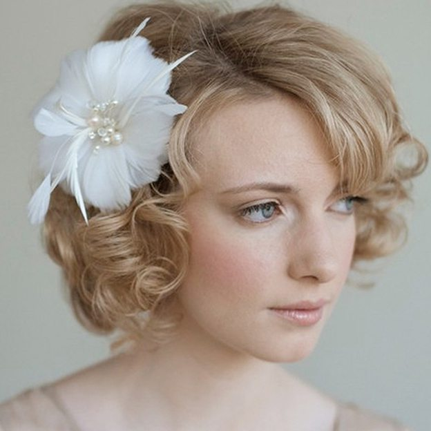 Imitation Pearls Ladies Headbands With Pearl Feather
