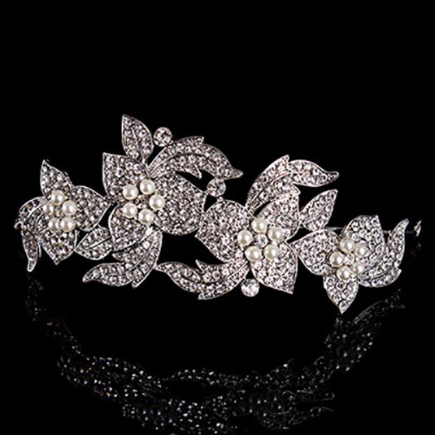Alloy Ladies Gift Tiaras With Rhinestone