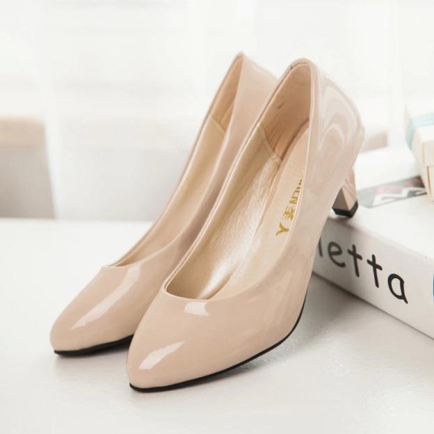 Close Toe Boat Shoes Low Heel Pu Fashion Shoes