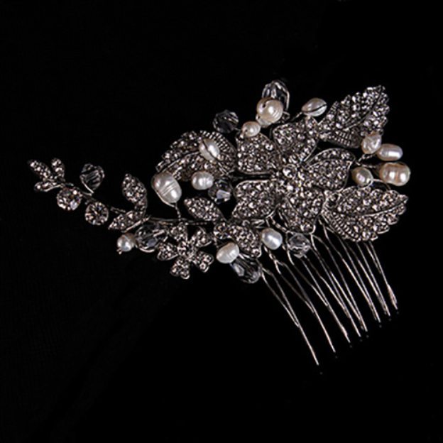 Alloy Ladies Combs & Barrettes With Rhinestone Crystal