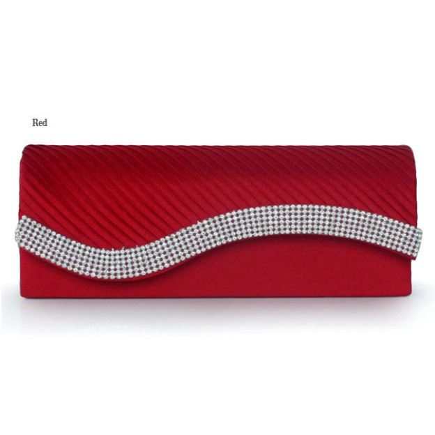 Silk Chain Clutches With Beading