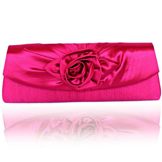 Silk Adjustable Clutches With Flower
