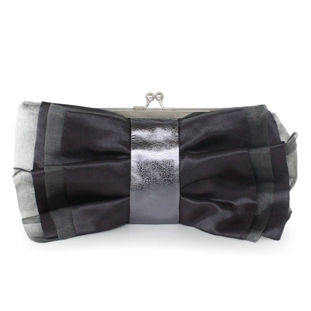 Tulle Chain Clutches With Sequin