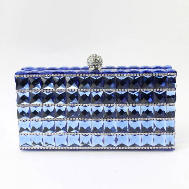 Rhinestone Chain Clutches With Beading