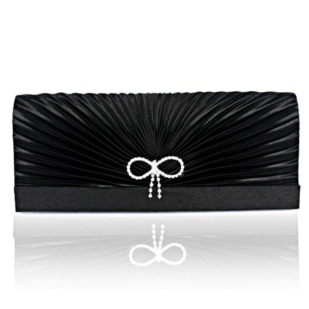 Silk Chain Wallets & Accessories With Bowknot Pleated