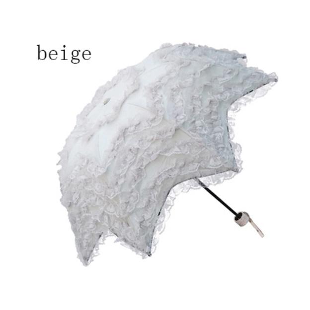 Lace Women'S Cylindrical Handle Wedding Umbrellas