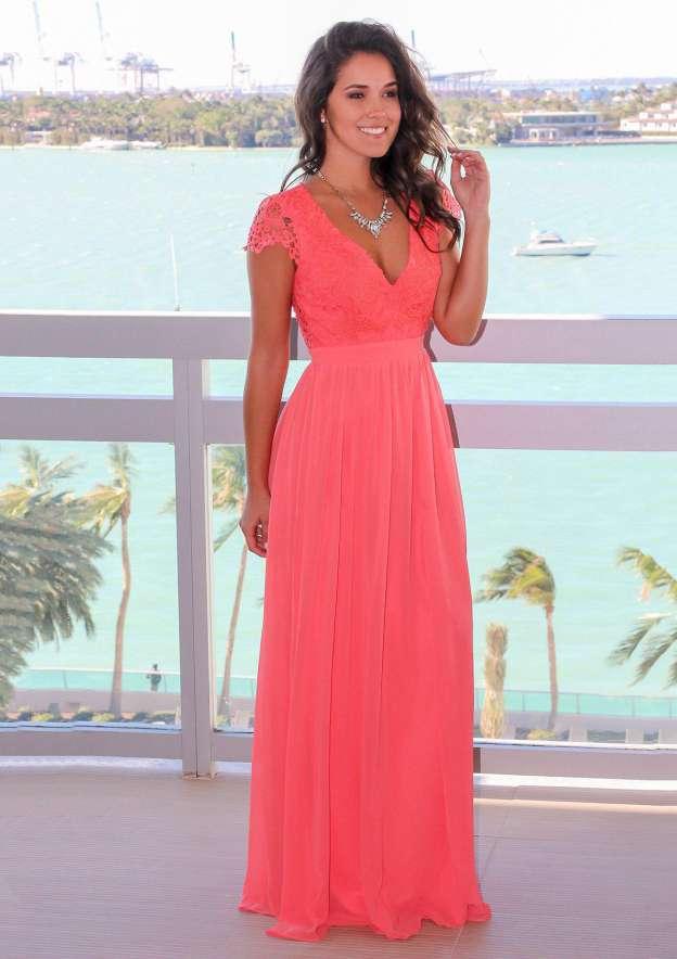 A-Line/Princess V Neck Sleeveless Long/Floor-Length Chiffon Bridesmaid Dress With Pleated Lace