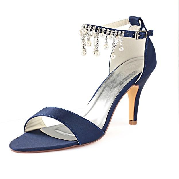 Sandals Wedding Stiletto Heel Satin Wedding Shoes