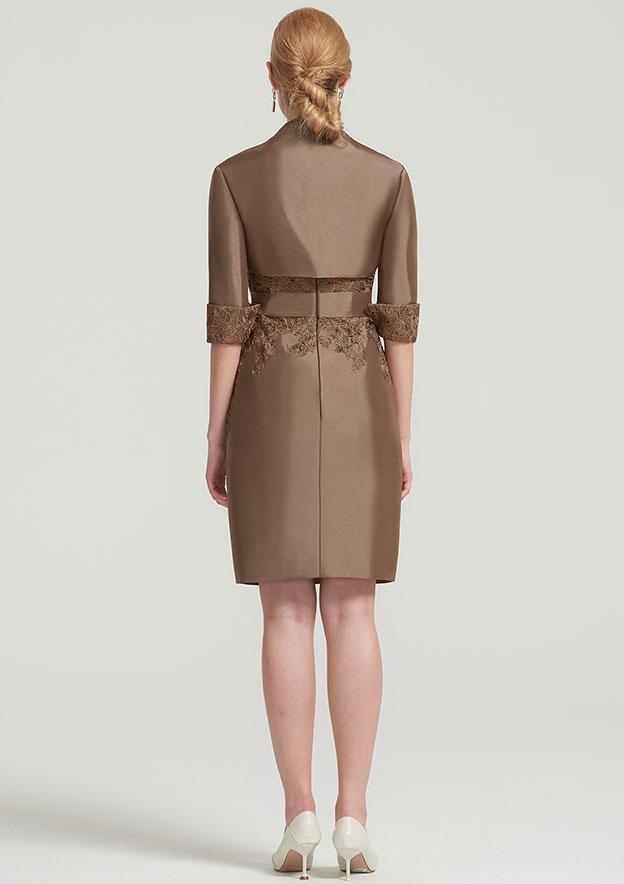 Half Sleeve Short Length Taffeta Jacket With Appliqued