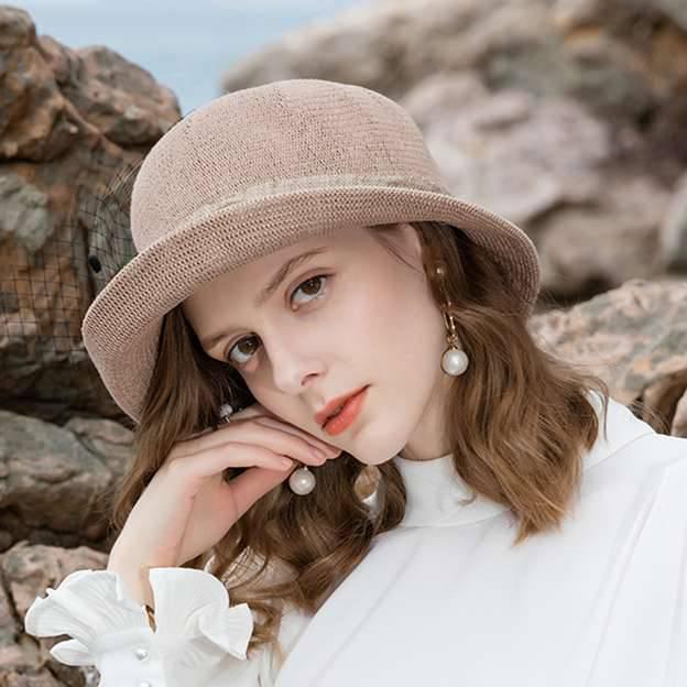 Ladies' Pretty/Elegant/Beautiful/Pp Straw Hats/Beach/Sun Hats With Tulle Flower