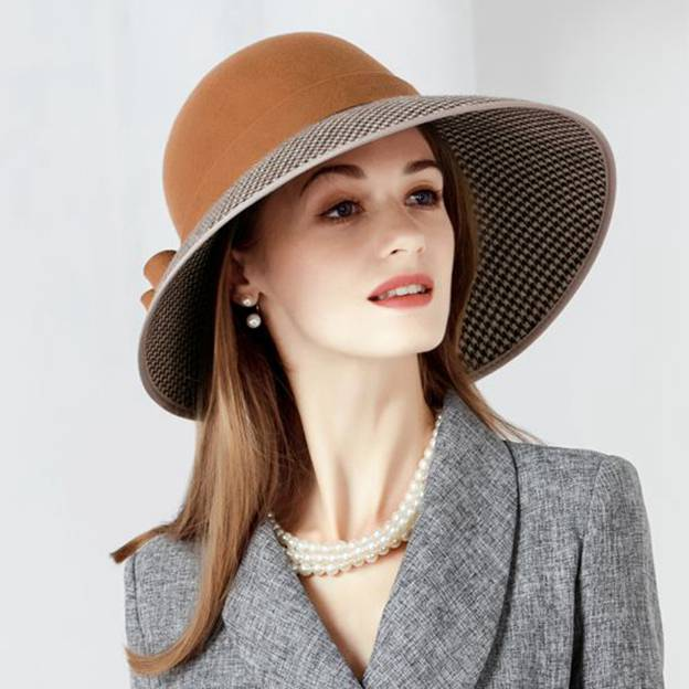 Ladies' Classic/Glamourous Wool Bowler/Cloche Hats