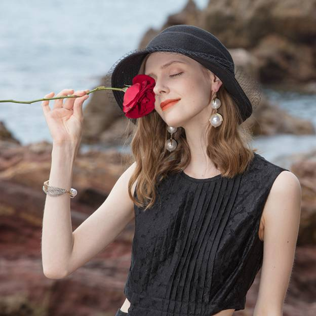 Ladies' Vintage/Pretty Pp Straw Hats/Beach/Sun Hats/Bucket Hats With Tulle