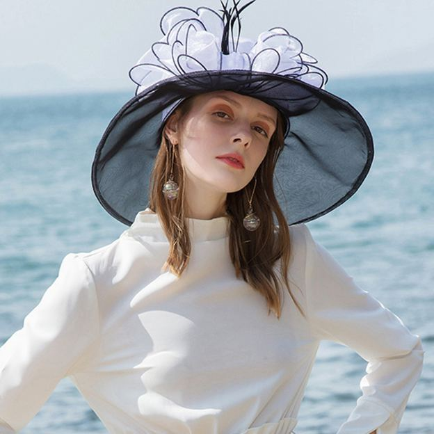Ladies' Eye-catching/Elegant Organza Kentucky Derby Hats With Bowknot