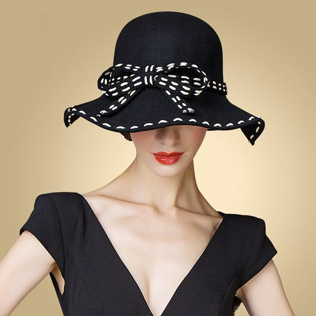 Ladies' Elegant/Charming Wool Bowler/Cloche Hats With Bowknot