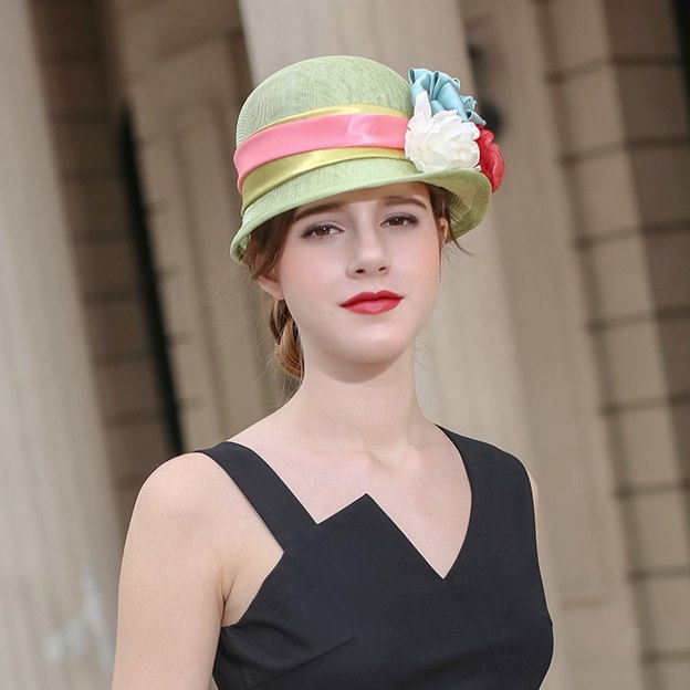 Ladies' Nice/Elegant Beautiful Linen Beach/Sun Hats/Tea Party Hats With Flower