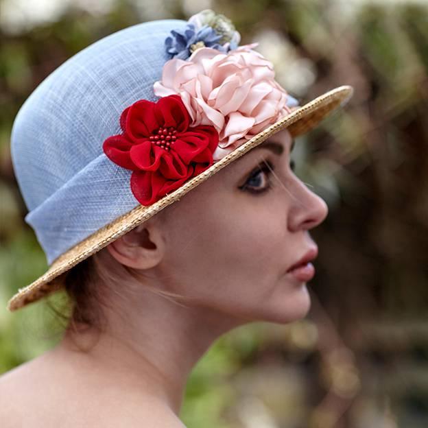 Ladies' Elegant/Beautiful Wheat Straw Linen Straw Hats/Beach/Sun Hats With Flower