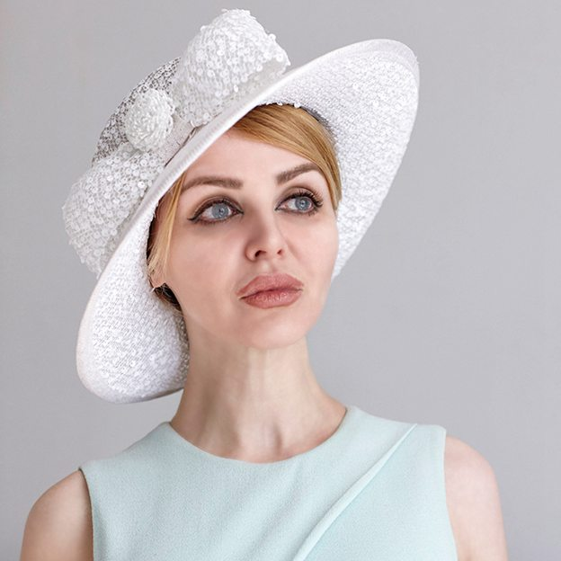 Ladies' Elegant/Beautiful Linen Tea Party Hats With Imitation Pearls Sequins Flower Bowknot