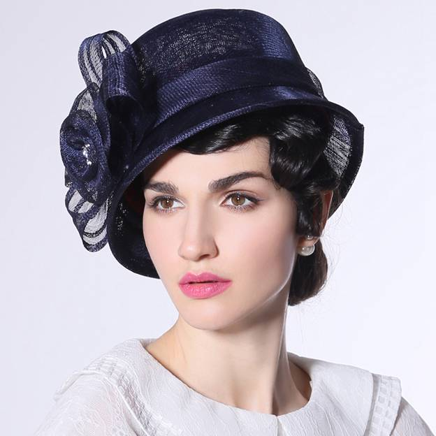 Ladies' Beautiful/Elegant Linen Beach/Sun Hats/Tea Party Hats With Flower Diamond