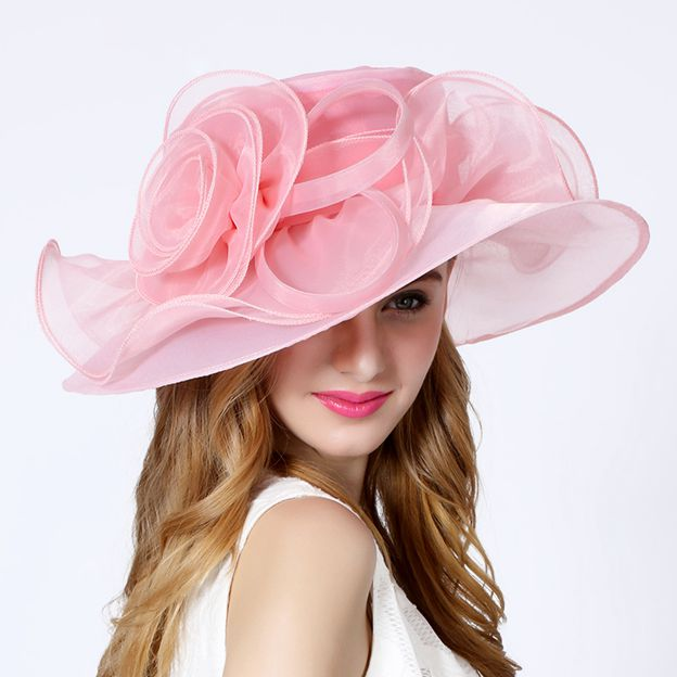 Ladies' Beautiful/Elegant Organza Tea Party Hats/Kentucky Derby Hats With Flower