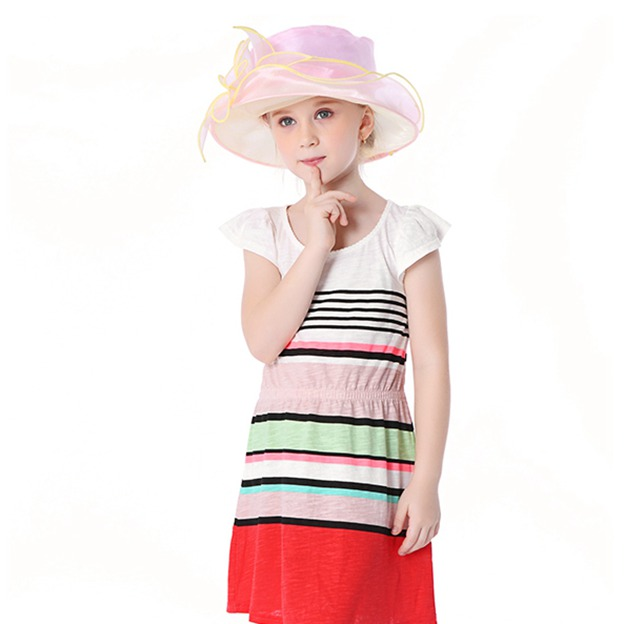 Child's Lovely/Elegant Beautiful Organza Beach/Sun Hats/Tea Party Hats With Flower