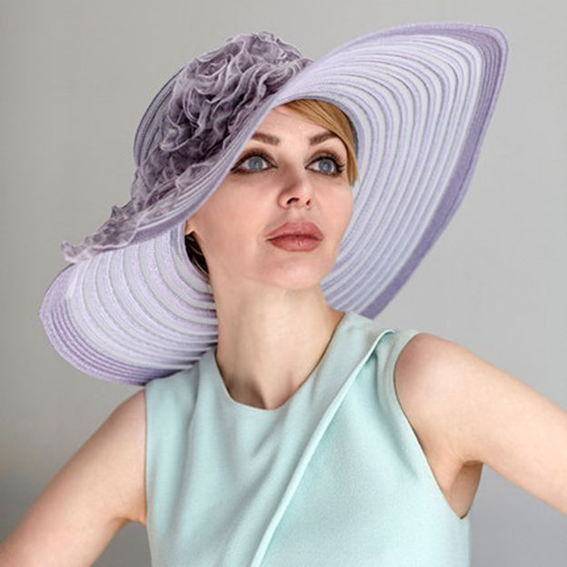 Ladies' Elegant/Beautiful Papyrus Tulle Beach/Sun Hats/Kentucky Derby Hats With Flower