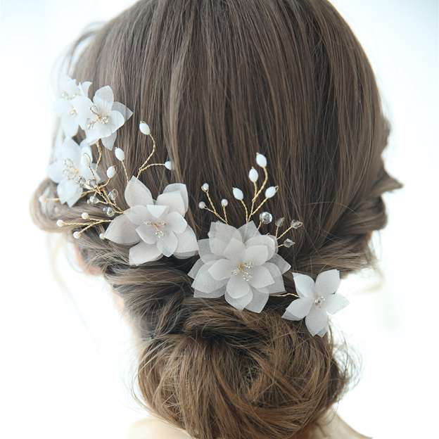 Ladies Beautiful/Eye-catching Alloy/Frosted flower With Flower/Crystal Hairpins