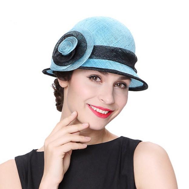 Ladies' Beautiful/Elegant Linen Floppy Hats/Beach/Sun Hats With Flower