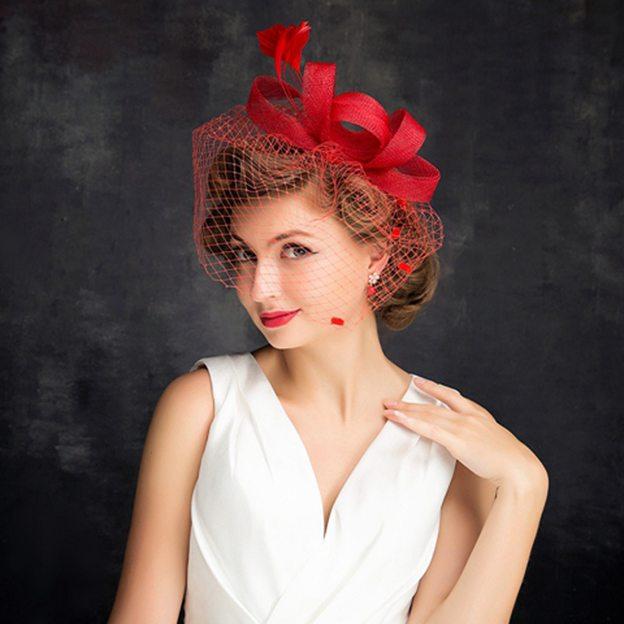 Ladies' Elegant/Beautiful Cambric Fascinators With Feather Tulle