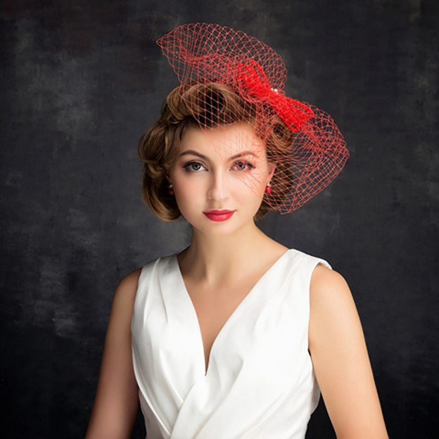 Ladies' Beautiful/Glamourous Net Yarn Cambric Fascinators