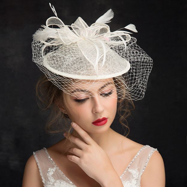 Ladies' Elegant/Beautiful Cambric Fascinators With Feather Flower Tulle