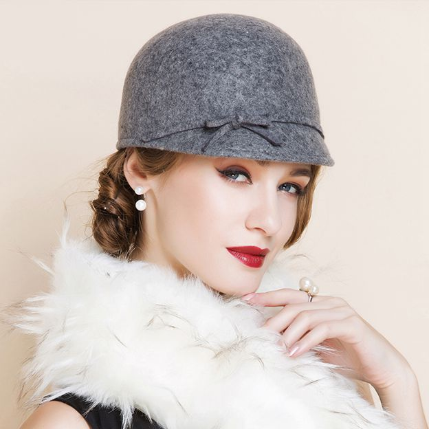Ladies' Elegant/Charming Wool Floppy Hats/Tea Party Hats With Bowknot