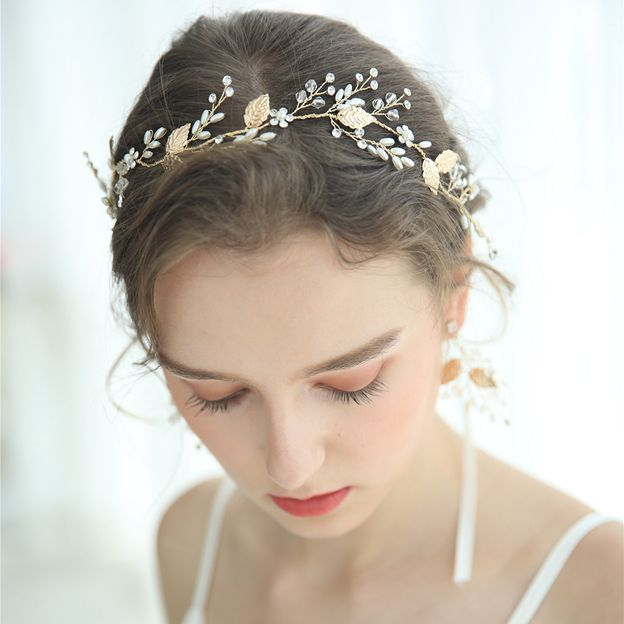 Ladies Alloy/Imitation Pearls With Flower/Venetian Pearl/Rhinestone Headbands