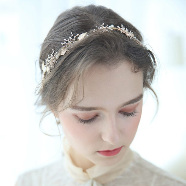 Ladies Beautiful/Nice Alloy/Imitation Pearls With Flower Headbands