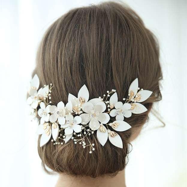 Ladies Beautiful/Elegant Alloy/Leatherette With Flower/Rhinestone Hairpins
