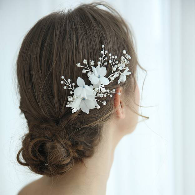 Ladies Alloy/Voile With Flower/Venetian Pearl/Rhinestone/Crystal Combs & Barrettes