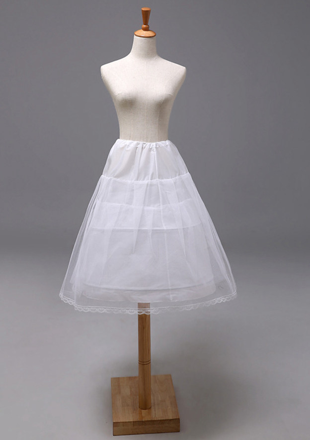 Girl Polyester/Tulle Netting Knee-length 3 Tiers Bridal Petticoats