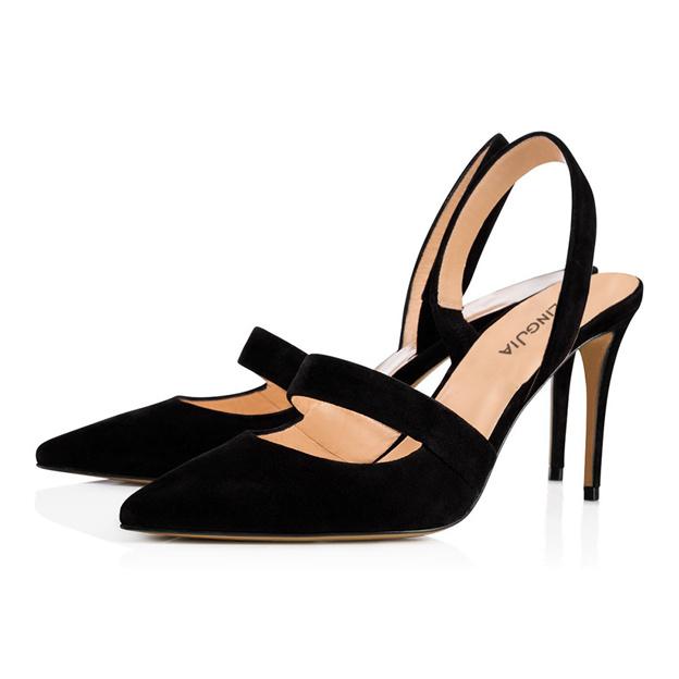 Women's PU Heels Close Toe Fashion Shoes