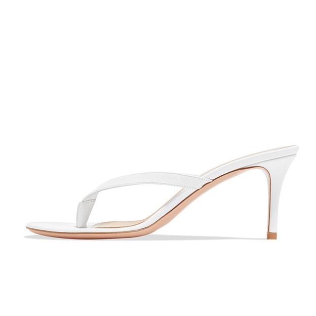 Women's PU Heels Flip Flops Fashion Shoes