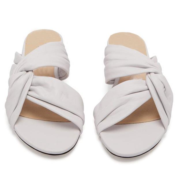 Women's Satin Flip Flops Flats Shoes