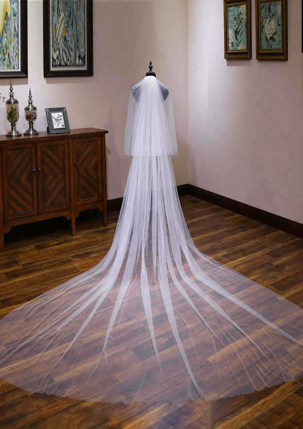 Two-tier Tulle Cathedral Bridal Veils